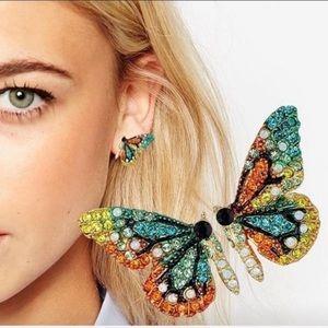 LAST PAIR! 5 stars ⭐️ FP 🦋 rhinestone earrings